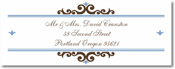 Name Doodles - Rectangle Address Labels/Stickers (Bellingham Brown)
